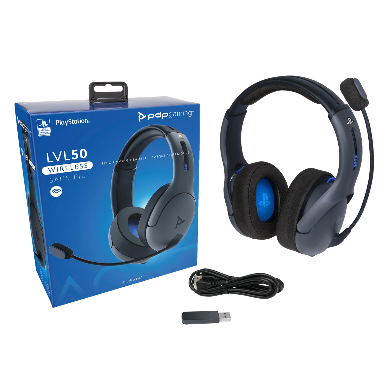 Pdp Ps4 Lvl50 Wireless Stereo Gaming Headset Playstation 4 0 051 049 Na Lic Walmart Com Walmart Com