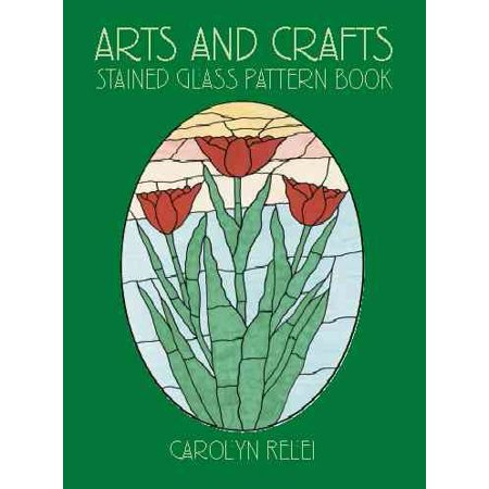 Arts and Crafts Stained Glass Pattern Book for $<!---->