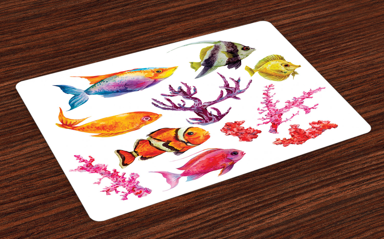 Fish Placemat Mealtime Placemat Set Of 3 Ocean Placemat Pirates Placemat Boys Personalized Ocean Placemats Great Birthday Gift