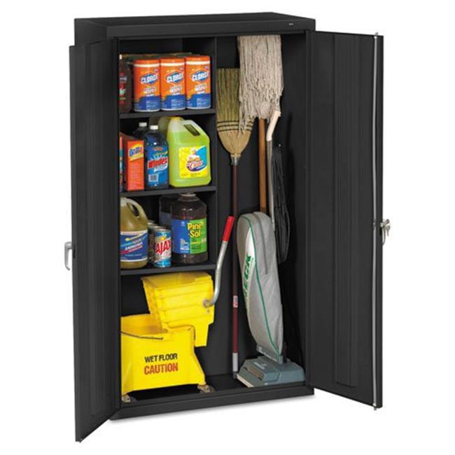 Tennsco JAN6618DHBK Janitorial Cabinet, 36w x 18d x 64h, Black