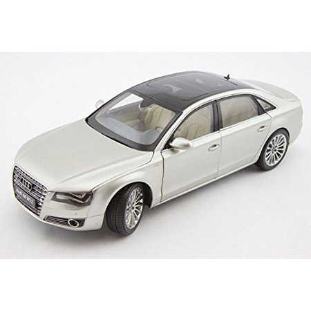 Audi A8 L W12 Cuvee Silver 1/18 Diecast Car Model by Kyosho