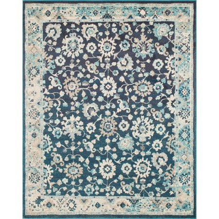 Unique Loom Krystle Penrose Contemporary Floral Area Rug or Runner Floral Contemporary Rug