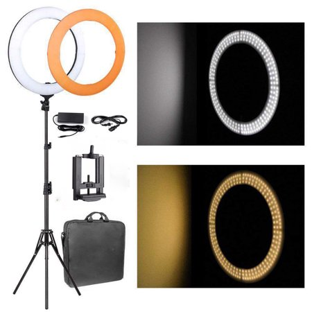 Led Ring (Zimtown 180pcs LED Ring Light Dimmable 5500K Lighting Video Continuous Light Stand)