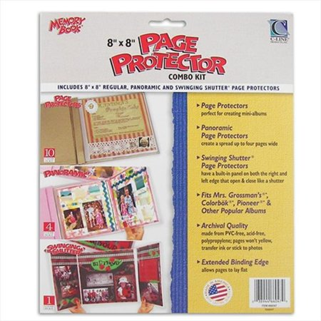 Two Page Kit (C-Line Products 66047BNDL2PK Memory Book 8 x 8 Scrapbook Page Protector Combo Kit  15-PK - Set of 2)