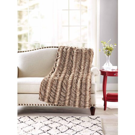 Better Homes Gardens Luxe Faux Fur Throw Blanket