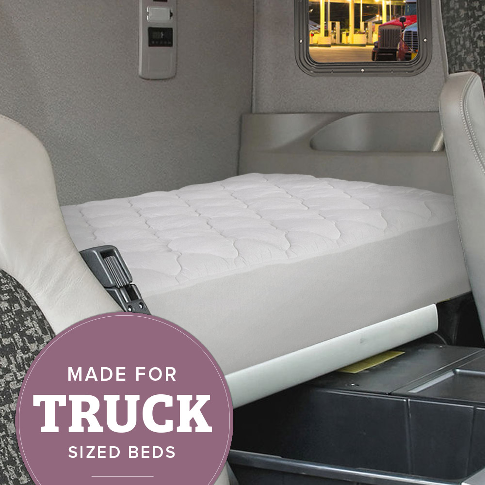 Truck Mattress Pad | Found in Luxury Hotels & Resorts | Extra Plush Topper with Fitted... by eLuxurySupply