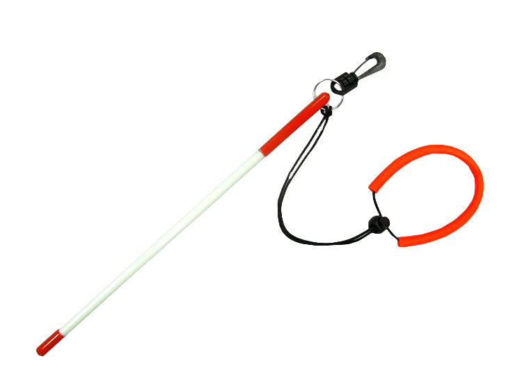 Fiberglass Tickle Stick w Clip & Lanyard for Snorkeling and Scuba Diving by Storm Accessories