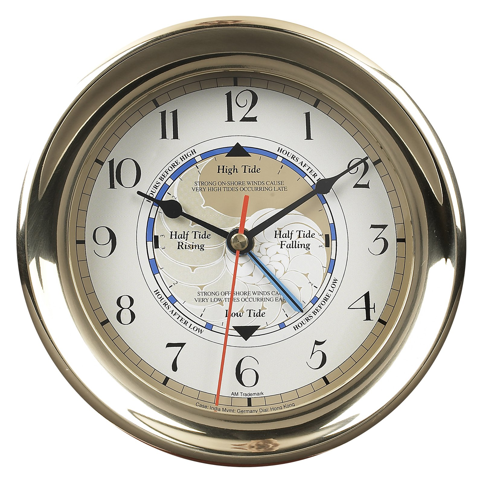 Authentic Models Captains Time and Tide Wall Clock
