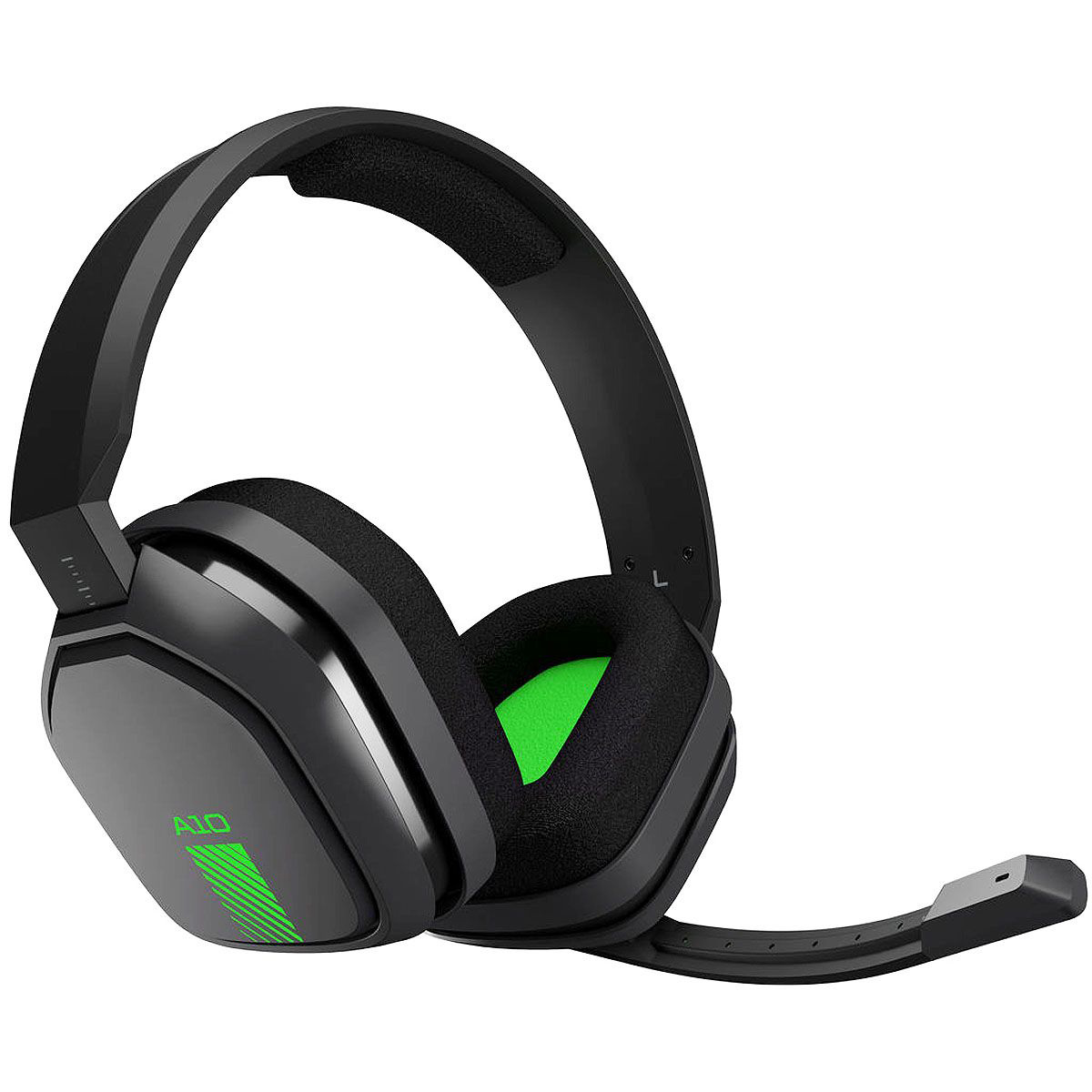 Refurbished Logitech Astro A10 Wired Gaming PC Xbox One Headset w/ Boom Mic 3.5mm Gray Green
