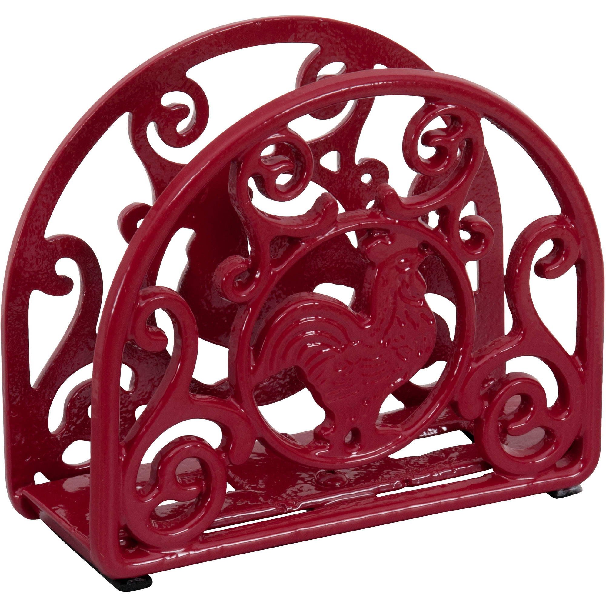 Better Homes and Gardens Red Rooster Cast Iron Napkin Holder