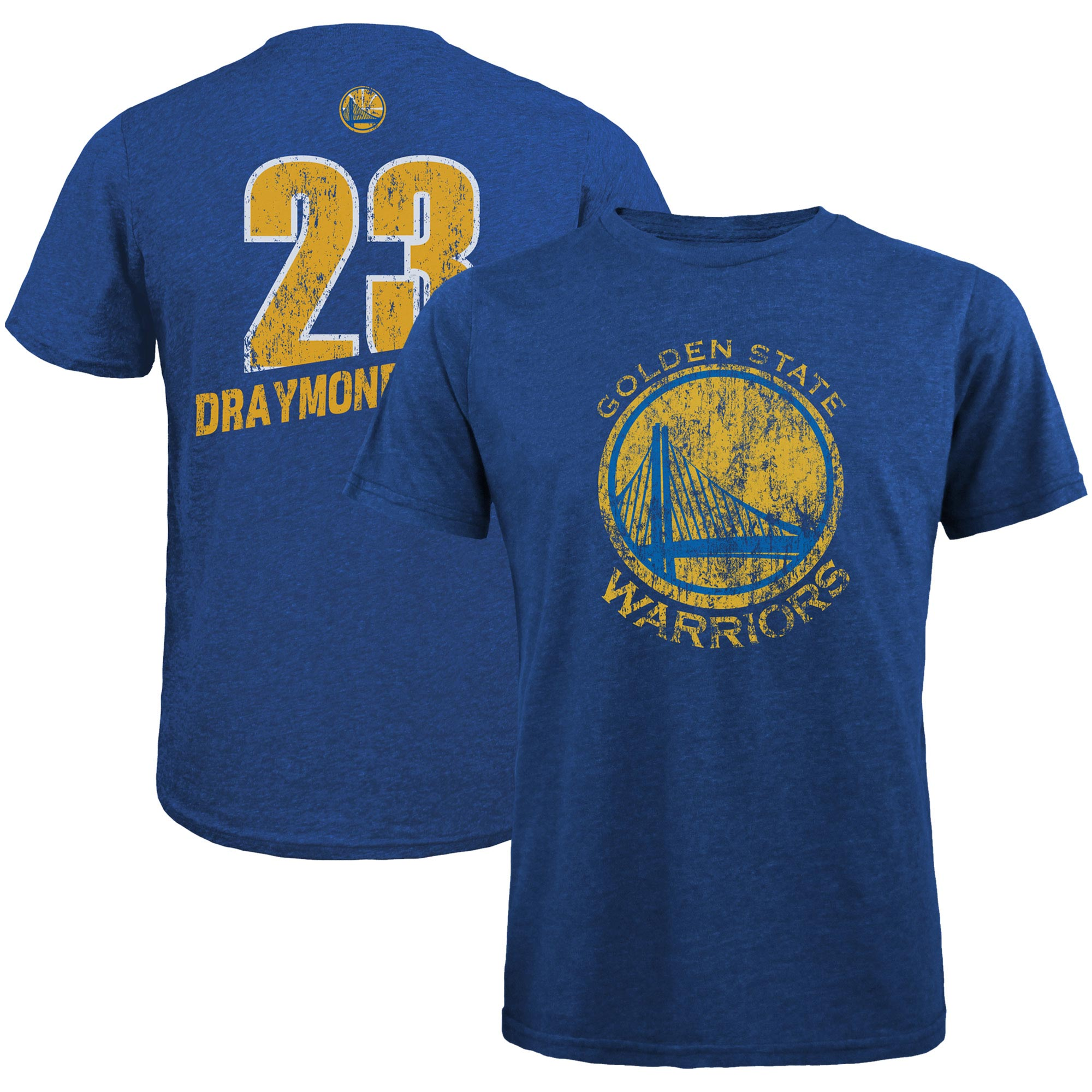 Draymond Green Golden State Warriors Majestic Threads Name & Number Tri-Blend T-Shirt - Royal
