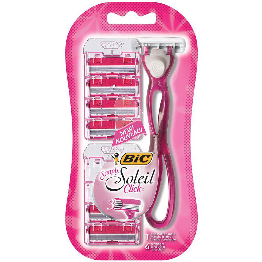 BiC Simply Soleil Click Women's Disposable Razors, 6 count