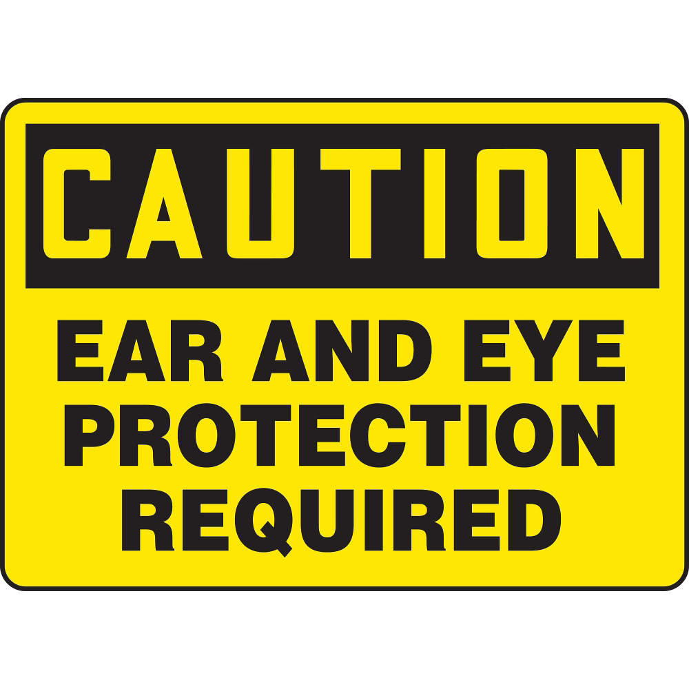 ACCUFORM SIGNS Caution Sign, 7 x 10In, BK/YEL, PLSTC, ENG MPPE436VP