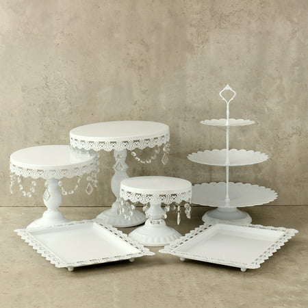 Crystal Metal Cake Holder Cupcake Stand and Towers Dessert Display Stand for Birthday Wedding Parties - Cupcake Stand Target