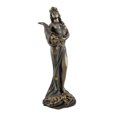 Bronzed Fortuna Roman Goddess of Fortune Statue Tykhe 7 In.](Roman Goddess)