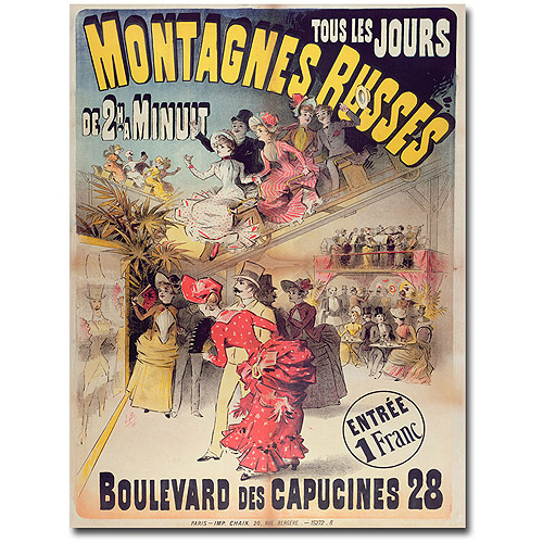 "Trademark Art ""Montagnes Russes, 1888"" Canvas Wall Art"