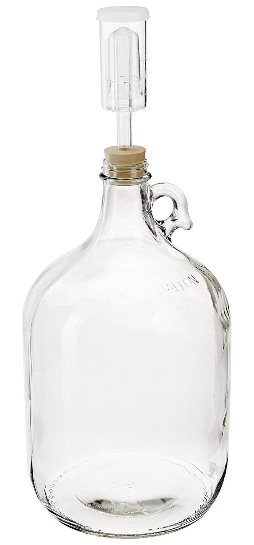 Home Brew Ohio Glass Fermenter Includes Rubber Stopper and Airlock, 1 Gallon by Home Brew Ohio
