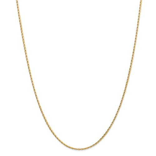 14k Yellow Gold 18in 1.75mm Round Parisian Wheat Necklace Chain by Jewelrypot