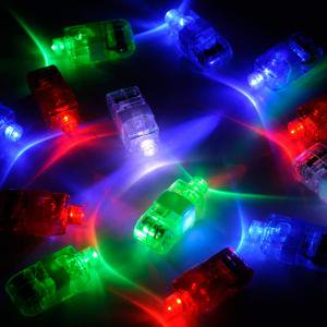 LED Finger Lights, Bright Fingers Lights Party Favors Birthday Novelty Toys for Kids Adults Bling Decorations for Halloween or Christmas Best Gifts for Children (100 Pack)