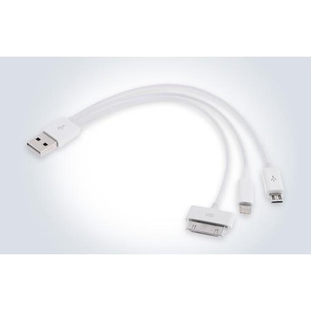 3-in-1 USB Multi-Charger Cable for Smartphones, Mobile
