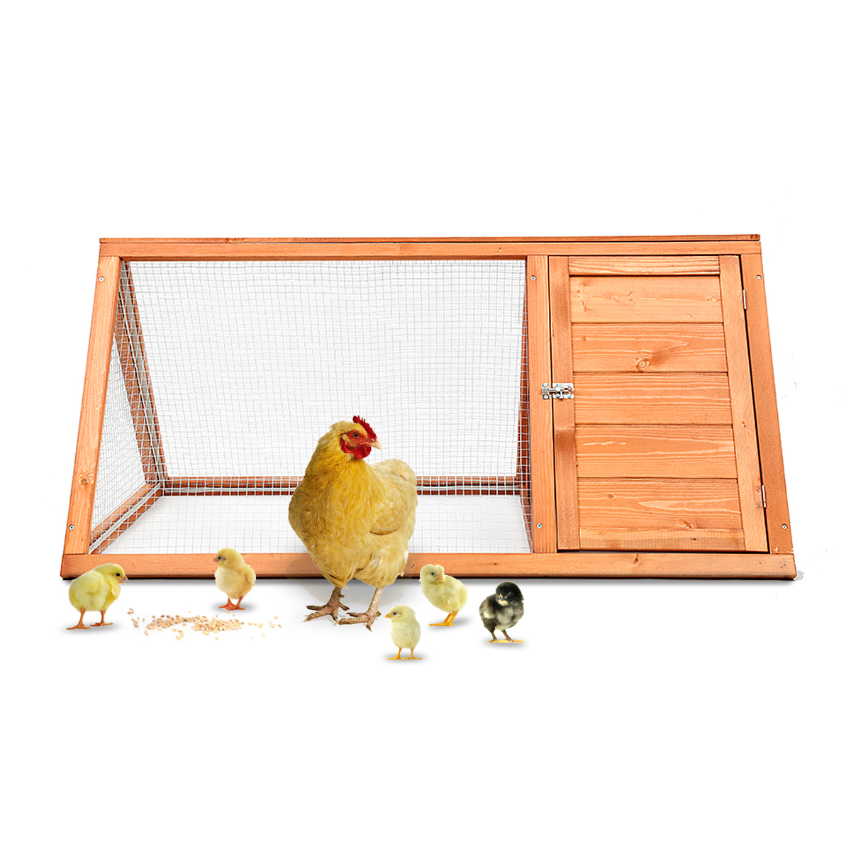 Magshion Wooden Chicken Coop Rabbit  Pet Cage Wood Small Animal Poultry Cage Hutch