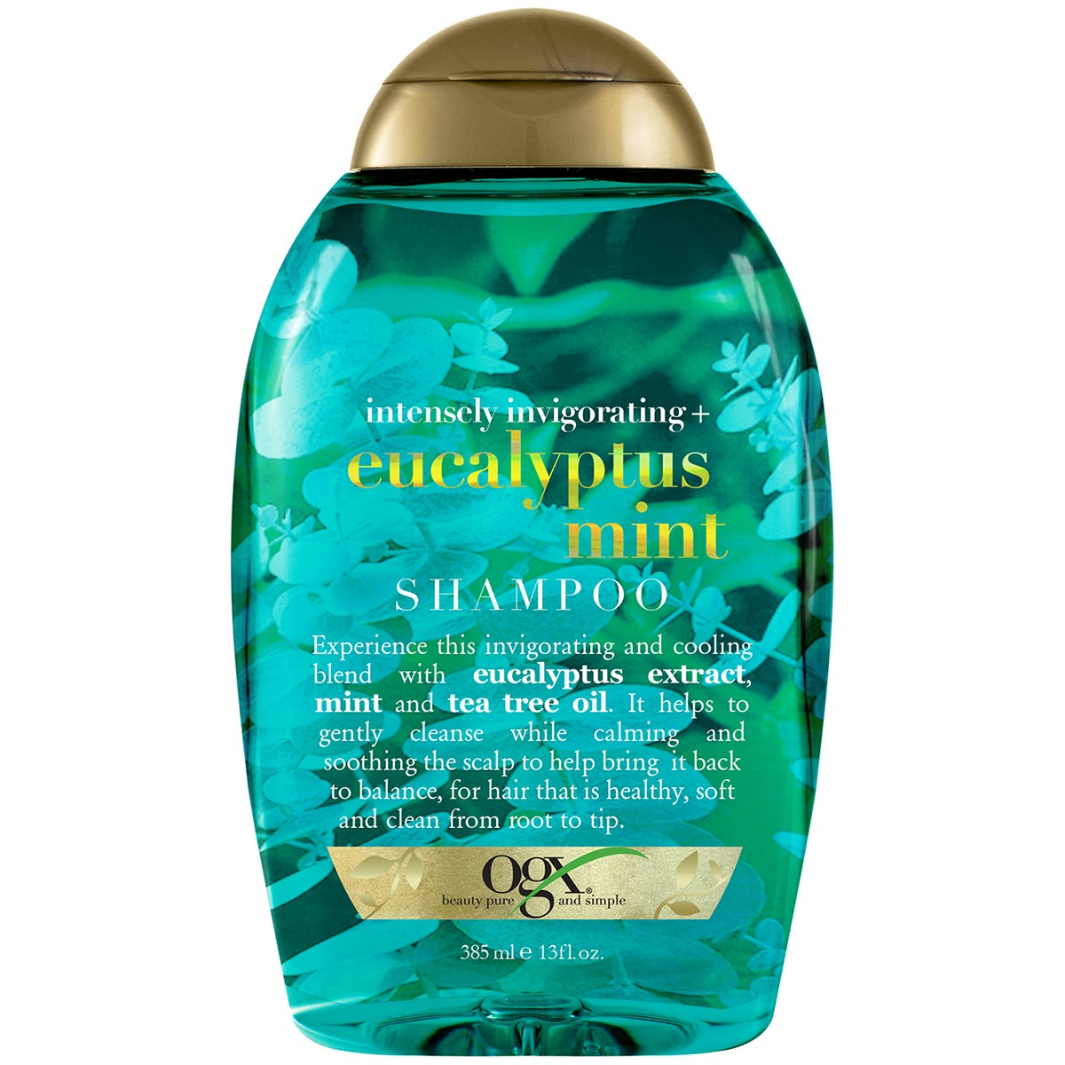 OGX Intensely Invigorating Eucalyptus Mint Shampoo, 13 Oz