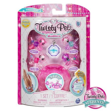 Kitty Kiss (Twisty Petz, Series 2 Babies 4 Pack, Kitties & Ponies Collectible Bracelet & Case (Pink) For Kids )