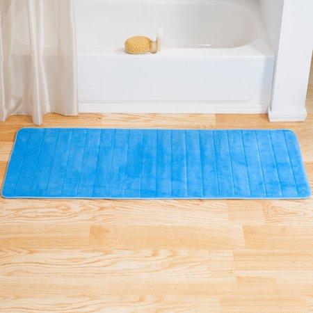 Somerset Home Memory Foam Striped Extra Long Bath Mat 24