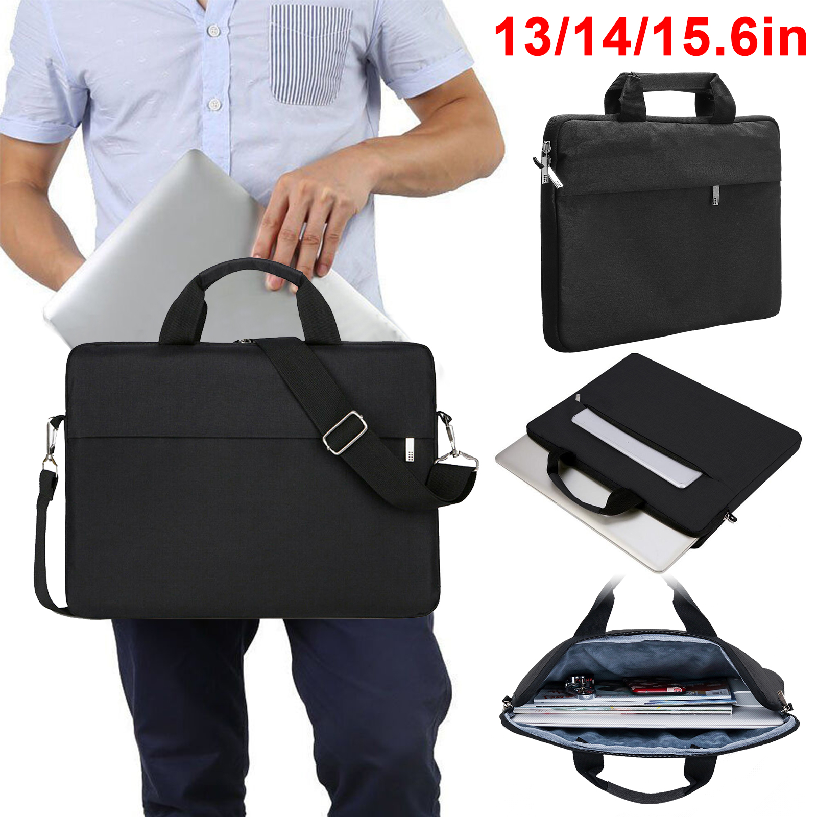 13 14 15 6 Inch Laptop Shoulder Bag Laptop Sleeve Case Multi Functional Notebook Sleeve Carrying Case W Strap Waterproof Fits For Macbook Air Pro Lenovo Acer Asus Dell Lenovo Hp Samsung Etc Walmart Com Walmart Com