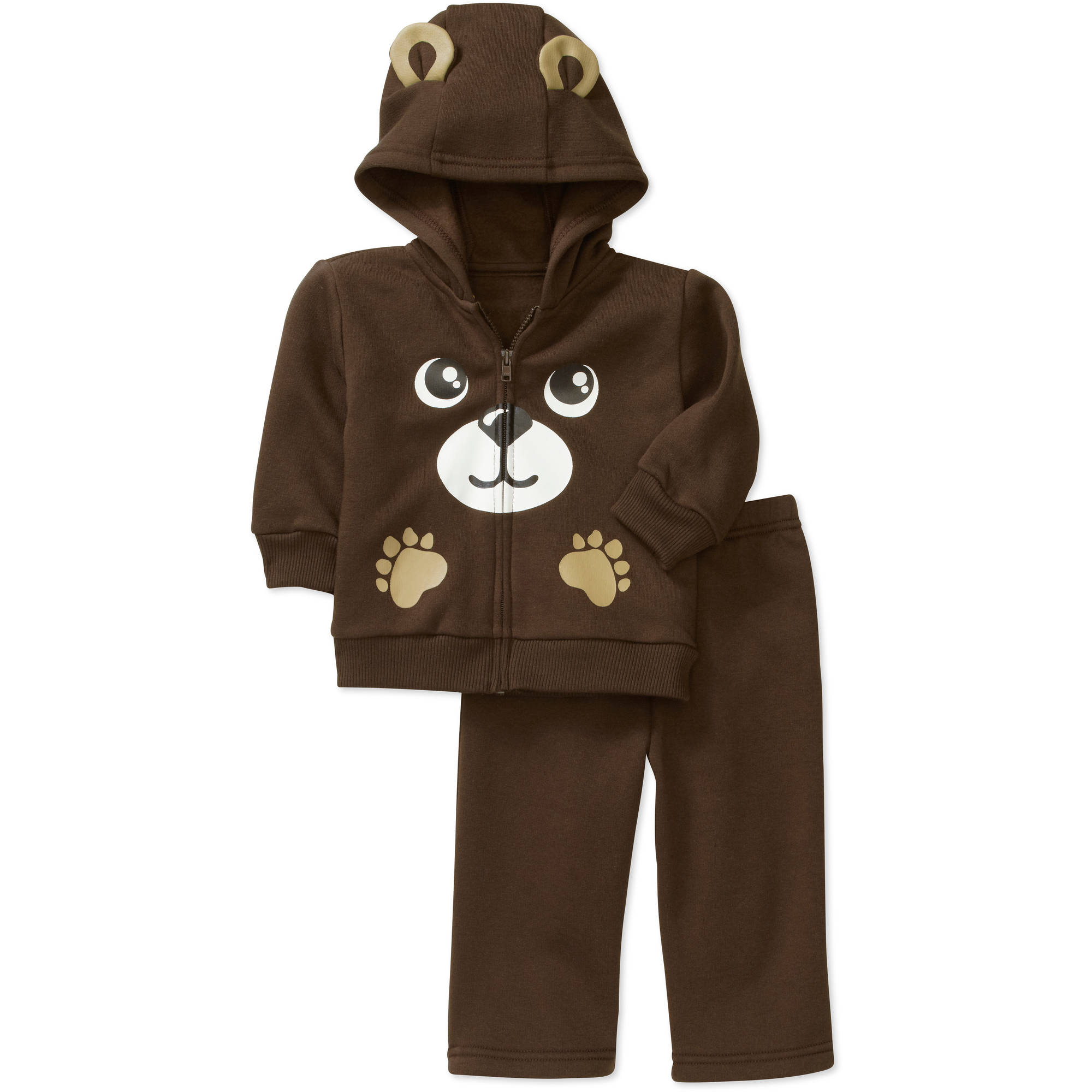 George Newborn Boys' 2 Piece Critter Fleece Hoodie and Pant Set