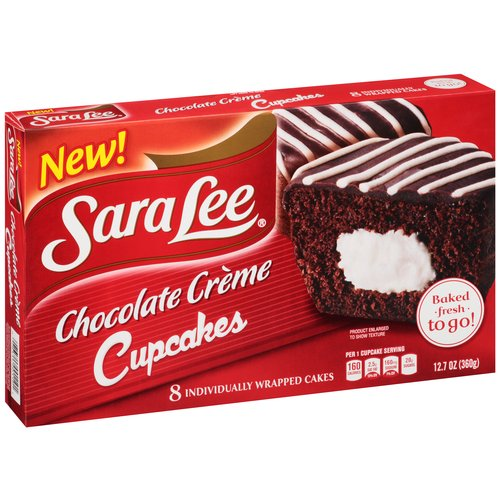 Sara Lee Chocolate Creme Cupcakes, 8 count, 12.7 oz
