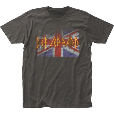 Def Leppard Rock Band Music Group Union Jack Adult Fitted Jersey T-Shirt Tee