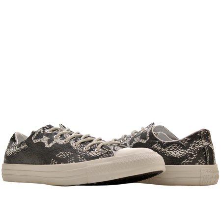 converse chuck taylor print low top sneakers, black/white, men's 7 women's