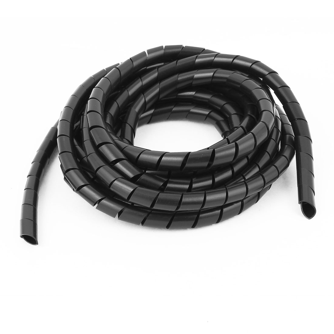 "Black Polyethylene Spiral Wrap 1//4/"" OD 25 Foot Spool"