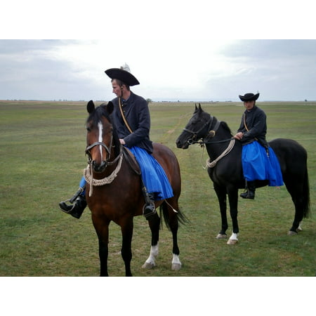 Horse And Rider Costumes (Framed Art For Your Wall Costume Drezůra Hungary Riders Puszta Horses 10x13)
