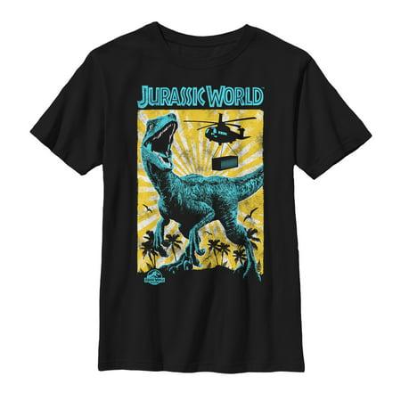 Jurassic World: Fallen Kingdom Boys' Jurassic World Fallen Kingdom Helicopter Capture T-Shirt](Boys Kingdom)