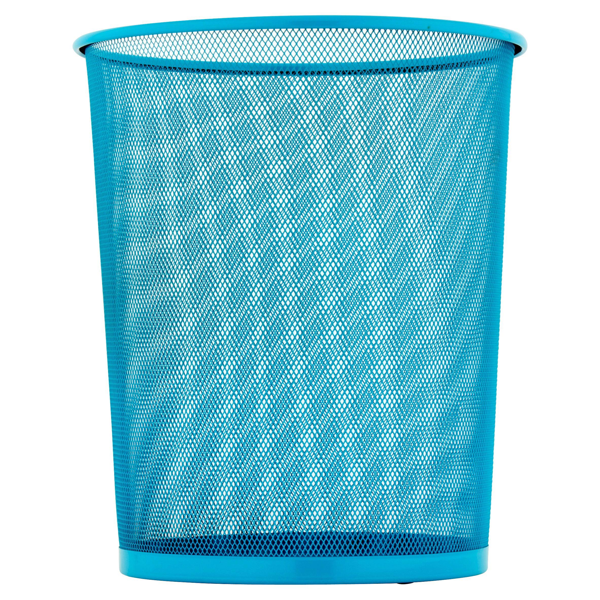 Honey Can Do 4.75-Gallon Round Mesh Metal Trash Basket, Multicolor ...