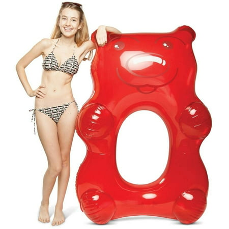 BigMouth Inc Giant Red Gummy Bear Pool Float (Giant Red Octopus)