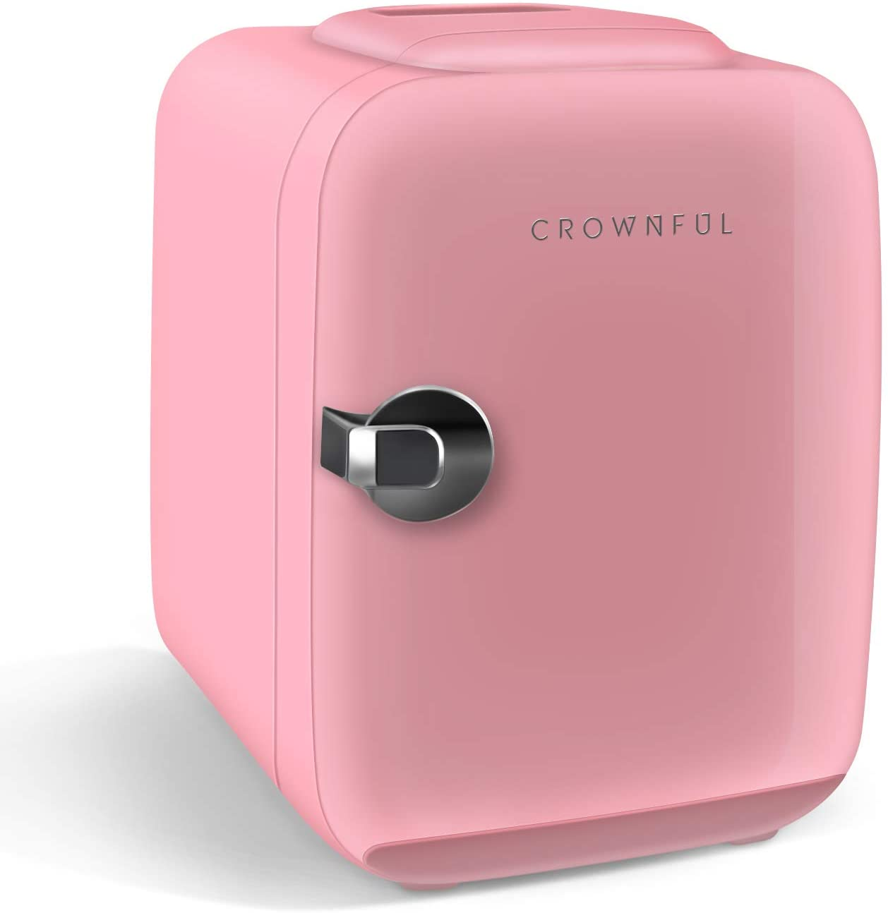 CROWNFUL Mini Fridge, 4 Liter/6 Can Portable Cooler and ...