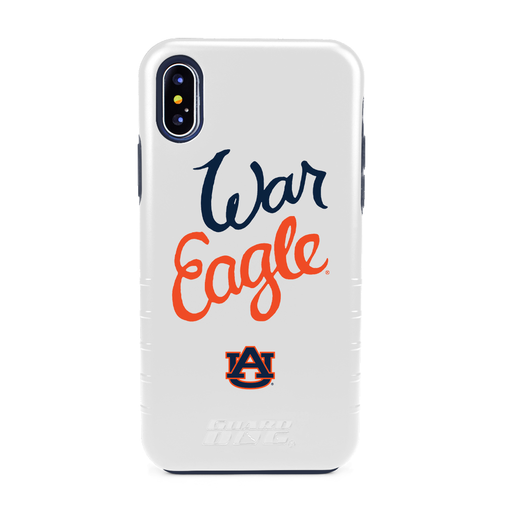 Auburn Tigers War Eagle® Hybrid Case for iPhone X / Xs - White
