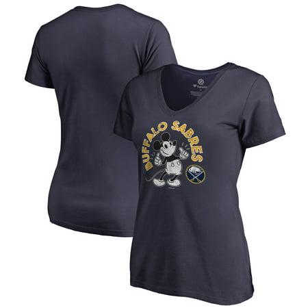 Buffalo Sabres Fanatics Branded Women's Disney Mickey's True Original Arch V-Neck T-Shirt - (Buffalo Sabres Apparel)