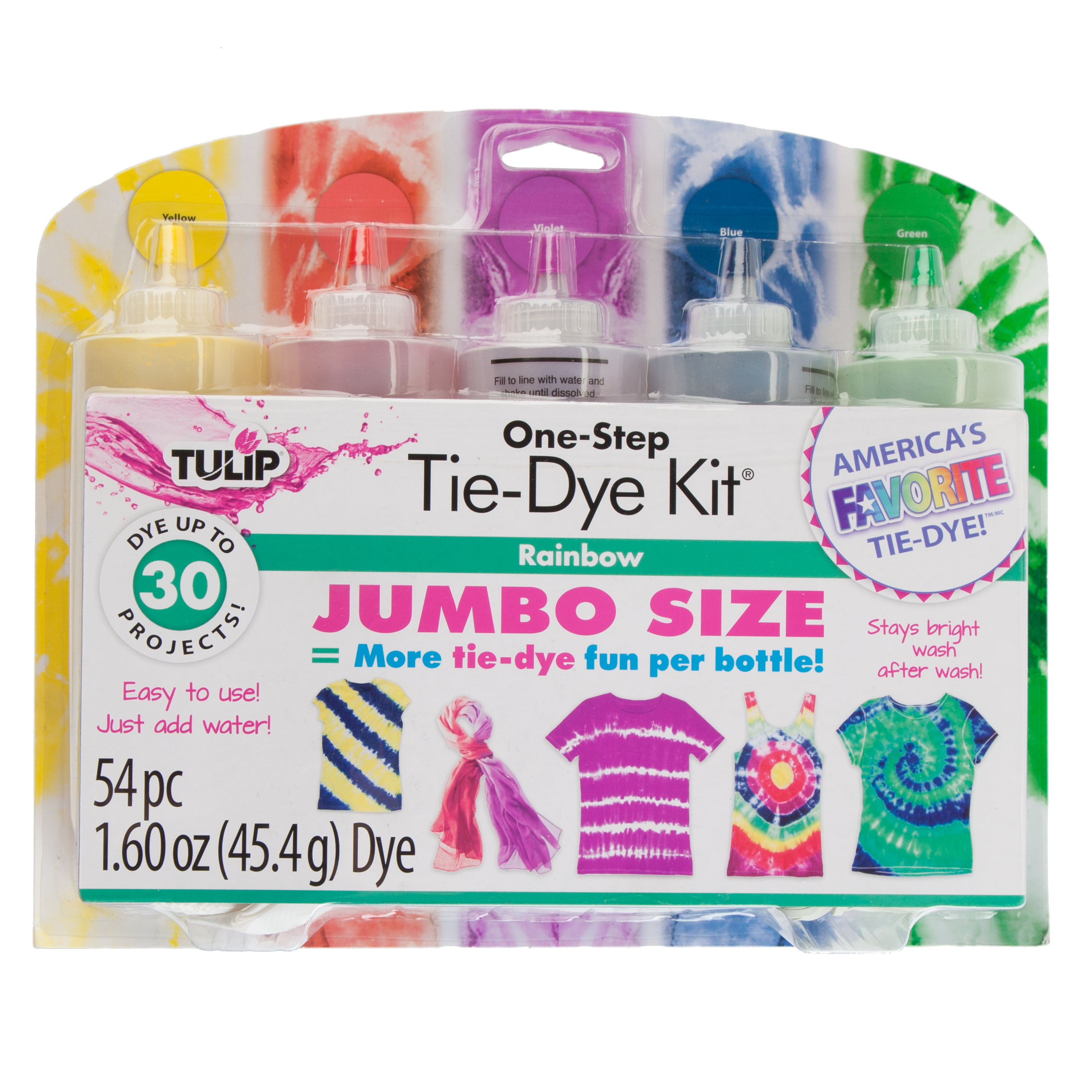 Tulip Rainbow Tie-Dye Kit, 5 Piece