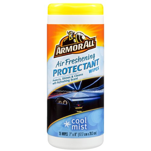 Armor All Air Freshening Protectant Wipes, Cool Mist, 25 Count