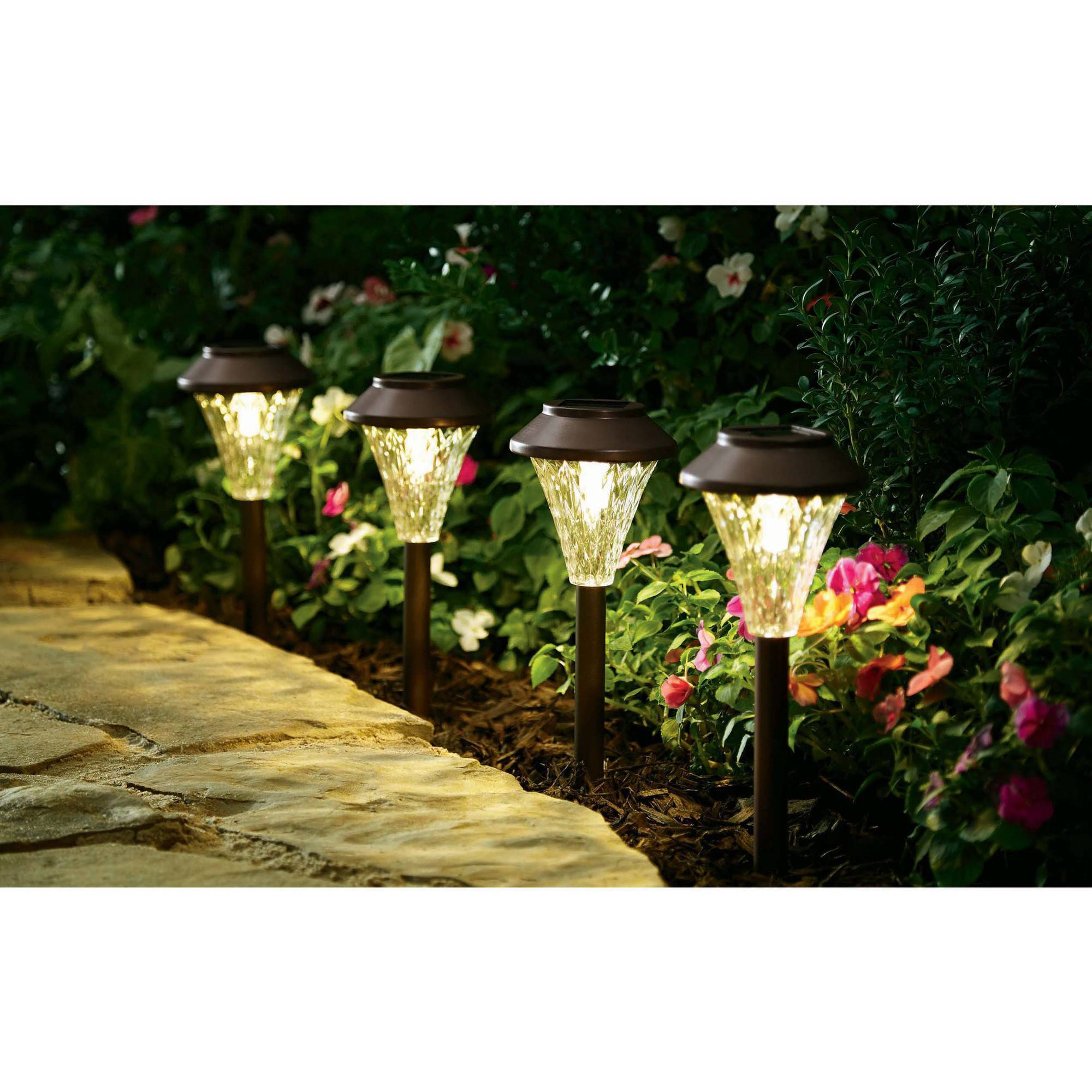 better homes and gardens avington 8piece landscape lighting set walmartcom - Solar Landscape Lights
