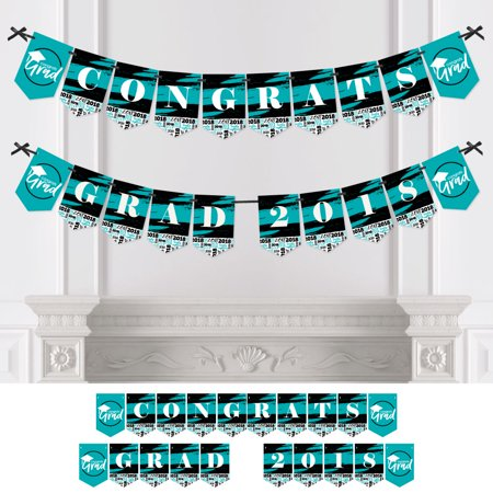Teal Grad - Best is Yet to Come - Turquoise Graduation Bunting Banner - Party Decorations - CONGRATS GRAD 2018 - Graduation Banner Ideas