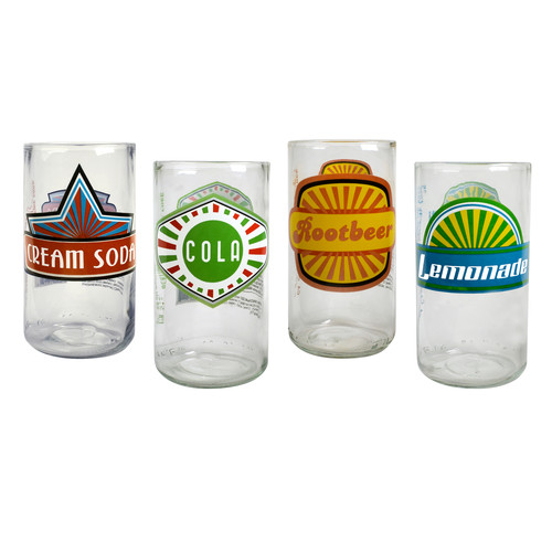 Artland Upcycle Fun in Sun Highball Glass (Set of 4)