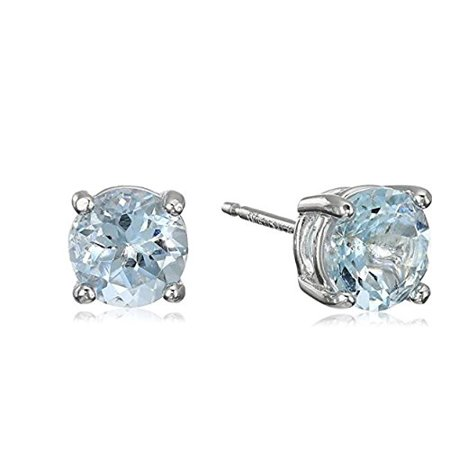 Surgical Stainless Steel Studs Earrings Little Women Men Round 5mm Birthstone Cubic Zirconia