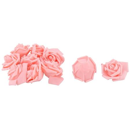Wedding Foam Craft Artificial Rose Flower Heads Buds DIY  Pink 10pcs - Foam Flower