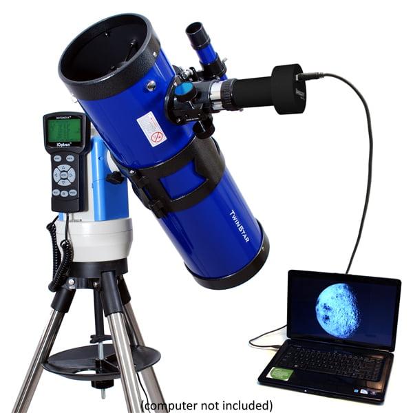 "Twinstar 4.5"" Computerized GPS Reflector Telescope with Camera, Blue by Twinstar"