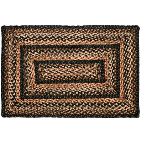 Braided Rug Black Forest Jute Country Primitive IHF